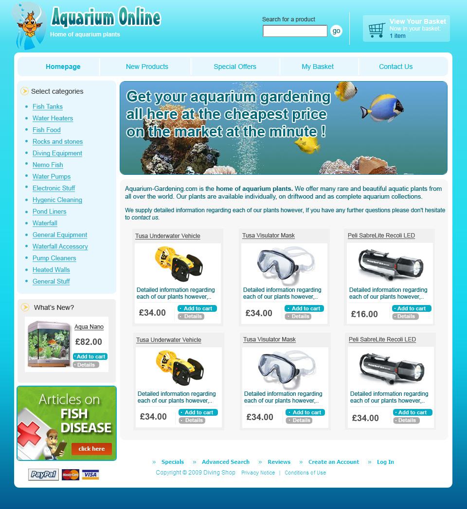Portfolio for Site aquarium