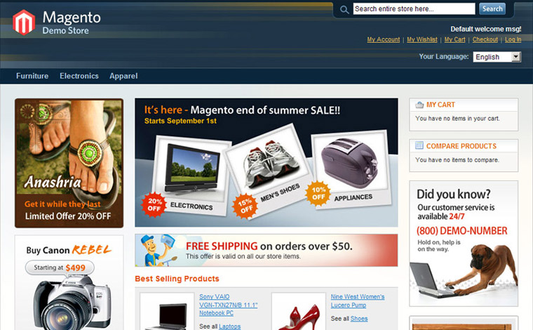 magento websites belfast
